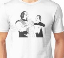 Worf, Spot and Data Unisex T-Shirt