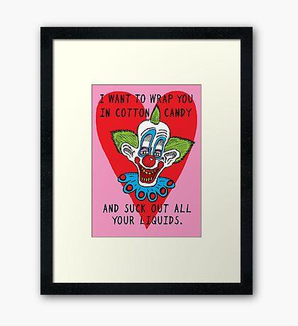 Killer Klown Love Framed Print