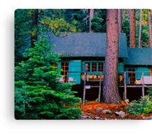 Fallen Leaf Lake Cabin..  Canvas Print
