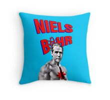 Niels Bohr Superhero Throw Pillow