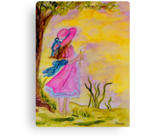 Pink Hat Canvas Print