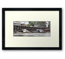 Historic inland port of Echuca, Australia Framed Print