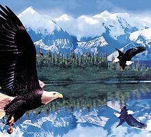 Eagle fight by Gerard Mignot