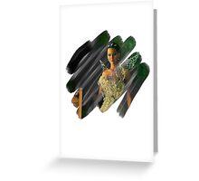 Katniss Everdeen Scribble Greeting Card