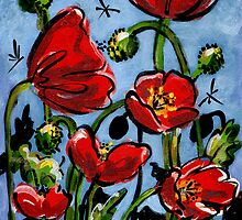 Scarlett Poppies by Anna Bartlett