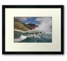 Da Surf Spot Framed Print