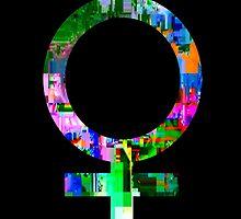 Femme Glitch by FeministFruit