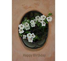 happy birthday card Photographic Print