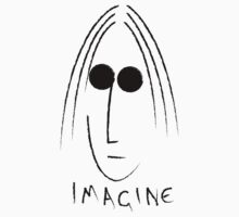 Imagine - John Lennon - Black by Steve Dunkley