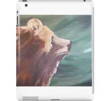 Grizzly Profile Country Cabin Decor iPad Case/Skin