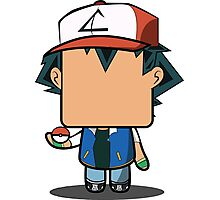 Ash Ketchum (Pokemon) Quin Photographic Print