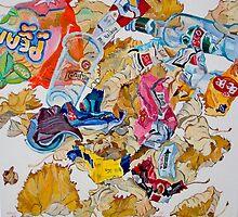 Leaves and rubbish by Vitali Komarov