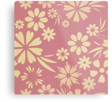 Floral, soft, girly, chic, pink, peach, trendy, pattern, template, customizable Metal Print