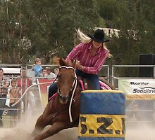 Rodeo Barrell Racing by Sharon Robertson