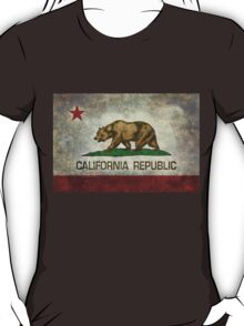 California Republic state flag - Vintage retro version T-Shirt