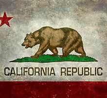 California Republic state flag - Vintage retro version by Bruiserstang