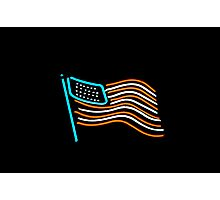 neon flag Photographic Print