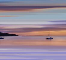 Brodick Bay Dawn, Isle of Arran by bluefinart