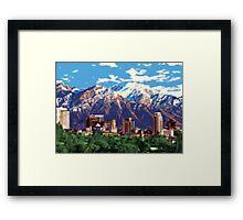 Iconic Salt Lake City Framed Print
