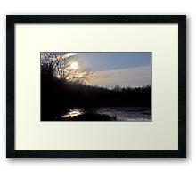 Majestic Indiana Sunset Framed Print