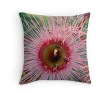 Pink Ant Flower Throw Pillow