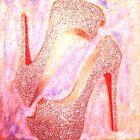 Dreaming in Diamonds Rhinestone Red Bottom Heels by Arts4U