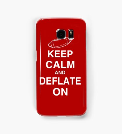 KEEP CALM AND DEFLATE ON - Deflate Gate Samsung Galaxy Case/Skin