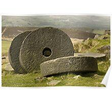 Stanage Edge Millstones Poster