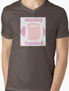 Sunday Funday - pink two tone Mens V-Neck T-Shirt