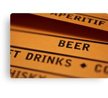 Beer and Drinks Canvas Print