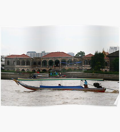 Boat on the Chao Praya River Poster