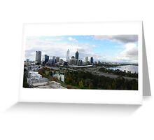 Perth Cityscape Panorama Greeting Card