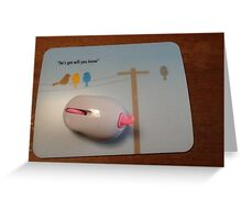 mouse and mouse pad Greeting Card