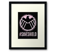 #SAVESHIELD Framed Print