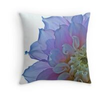backlit dahlia Throw Pillow