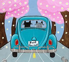 Just Married Cats by Ryan Conners