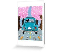 Just Married Cats Greeting Card