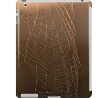 Sun backlit Spider's Web iPad Case/Skin