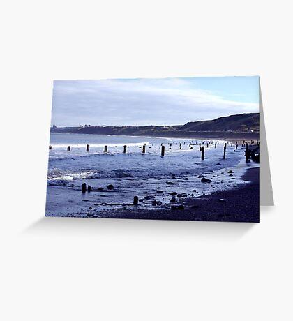 Groynes at Sandsend Greeting Card