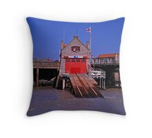RNLI launch station Throw Pillow