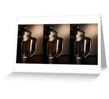 Cafetiere Greeting Card