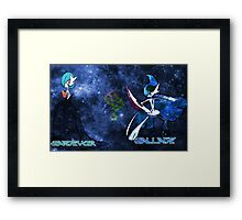 Pokemon Gardveior and Gallad Framed Print