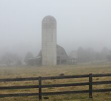 Foggy Morning on the Farm by krishoupt