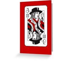 Jack of Threes Greeting Card