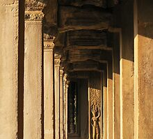 Apsara अप्सरा and Angkor Columns by fatfatin