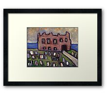 The old priory and graveyard Framed Print