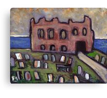 The old priory and graveyard Canvas Print