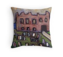 The old priory and graveyard Throw Pillow