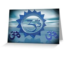Om Simbol Greeting Card