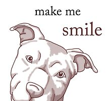 Pit Bulls Make Me Smile (light backgrounds) by WildCatArtist
